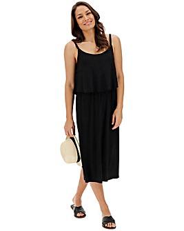 Black Layer Midi Dress