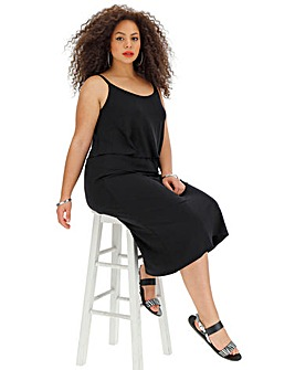 Black Layer Midi Dress