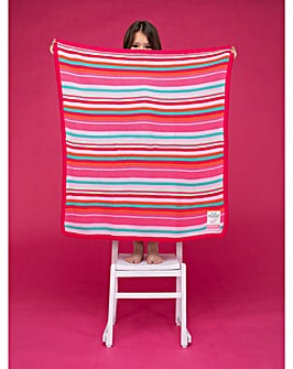 Cosatto Knitted Stripe Blanket Pinks