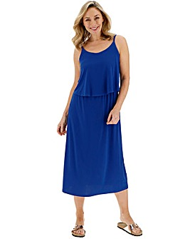 Cobalt Layer Midi Dress