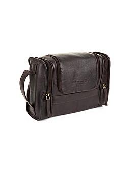 Woodland Leather Wash Bag