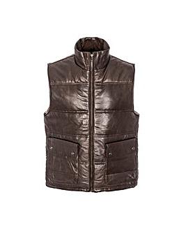 Woodland Leather Puffa Gilet