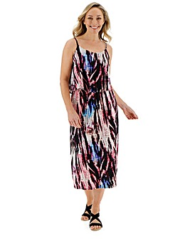 Tie Dye Layer Midi Dress