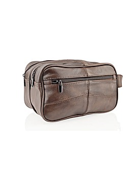 Woodland Leather Wash Bag