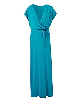 Kingfisher Wrap Front Maxi Dress