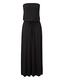 Black Bandaux Maxi Dress