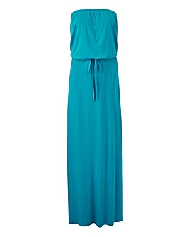 Sea Green Bandeau Maxi Dress