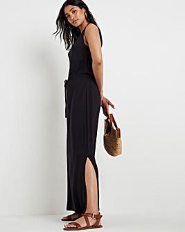 Black Vest Maxi Dress
