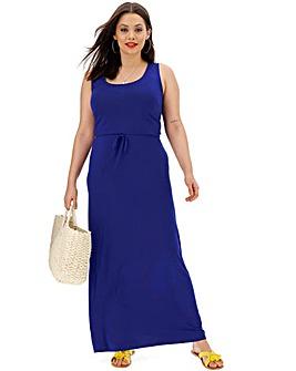 Cobalt Vest Maxi Dress
