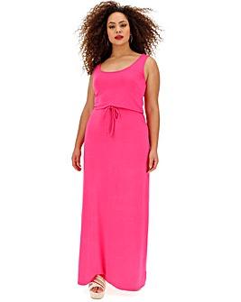 Pink Vest Maxi Dress