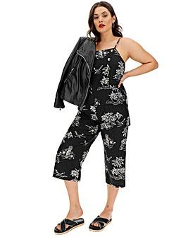 Black/Ivory Culotte Jumpsuit