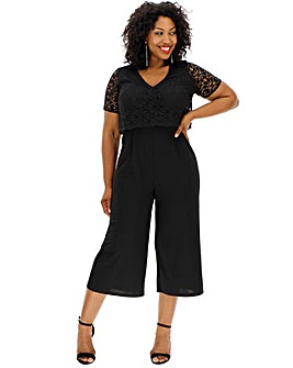 Black Lace Layered Jumpsuit