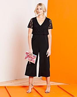 Black Lace Layered Jumpsuit