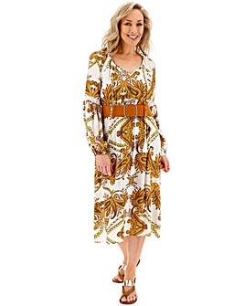 Crinkle Boho Midi Dress