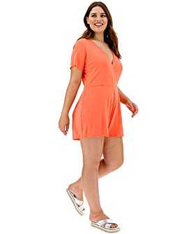 Coral Short Sleeve Playsuit
