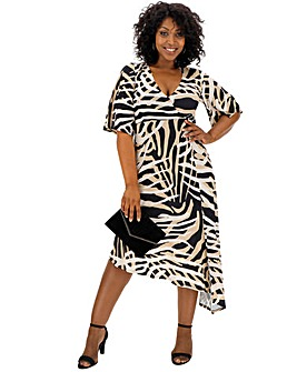 58b6ffb4a87c Animal Print Asymmetric Hem Dress