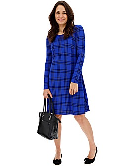 Blue Check Swing Dress
