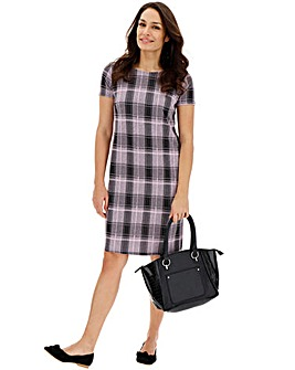 Pink Check Shift Dress