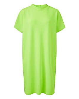 Neon Lime T Shirt Dress