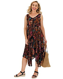 Paisley Hanky Hem Sun Dress