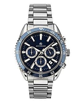 Accurist Gents Blue Face Chronograph Bracelet Watch