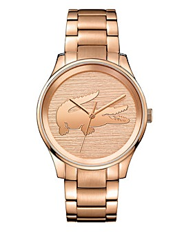 Lacoste Ladies Victoria Rose Tone Bracelet Watch