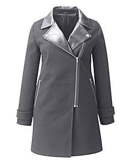 PU Collar Coat