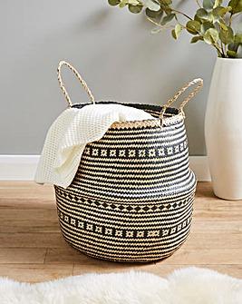 Printed Seagrass Storage Basket