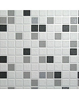 Contour Checker Black&White Wallpaper