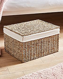 Medium Seagrass Underbed Storage Basket