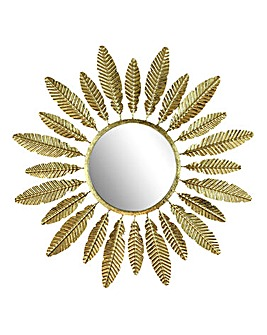 Amazonia Metal Wall Mirror Leaf Trim