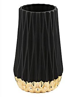 Hestia Black & Gold Vase