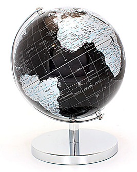 Black & Silver World Globe