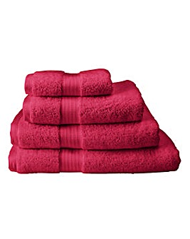 Pima Luxury Towel Range -Cranberry
