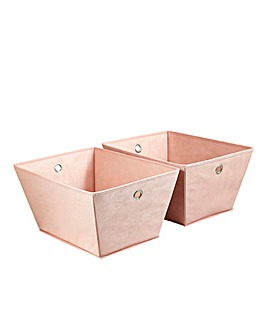 Set of 2 Geometric Storage Baskets