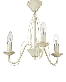 3 Light Cream Ceiling Light