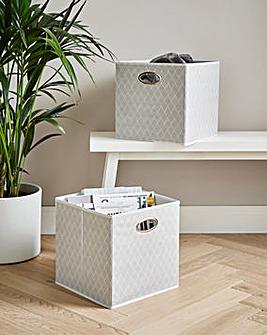 Set of 2 Fabric Storage Baskets