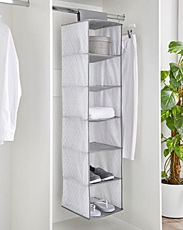 6 Shelf Hanging Wardrobe Storage