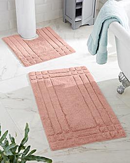 Luxury 100% Cotton Bathmats - Seashell Pink