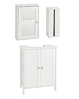Atlas 3 Piece Bathroom Furniture Set