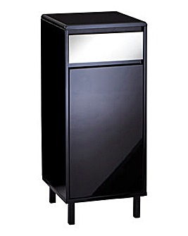 Sophia Black Gloss Mirrored Storage Cabinet