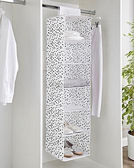 Spotty 6 Shelf Hanging Wardrobe Storage
