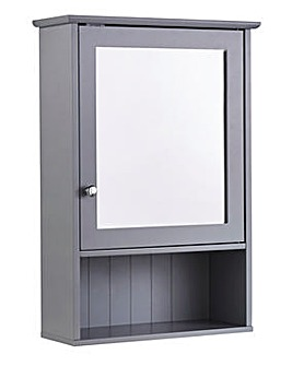 New England Mirror Cabinet Grey