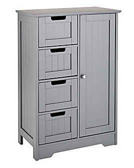 New England Storage Cabinet Grey
