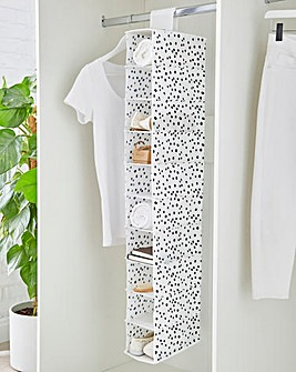 Spotty 10 Shelf Hanging Wardrobe Storage