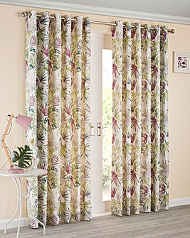 Paradise Eyelet Lined Curtains