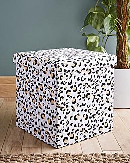 Leopard Print Storage Cube