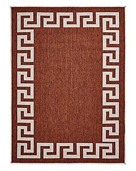 Lusso Greek Key Reversable Flatweave Rug
