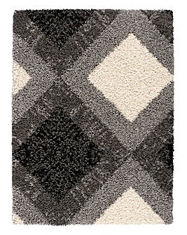 Diamond Shaggy Rug Large