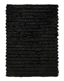 Carved Glamour Shaggy Rug Large